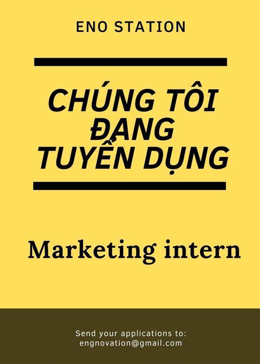 ENO STATION THỦ ĐỨC tuyển dụng Marketing Intern