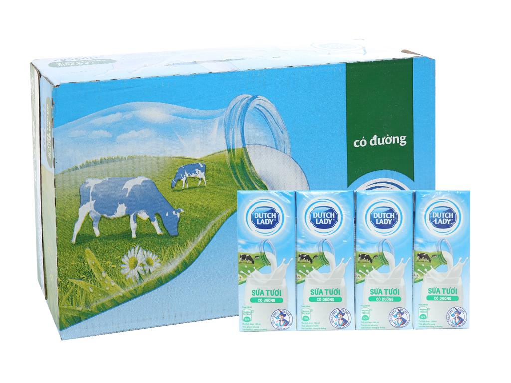 1 Thùng 48 hộp sữa tươi tiệt trùng có đường Dutch Lady